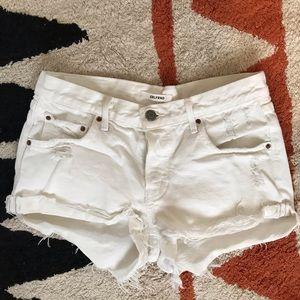 GRLFRND White denim Shorts-24
